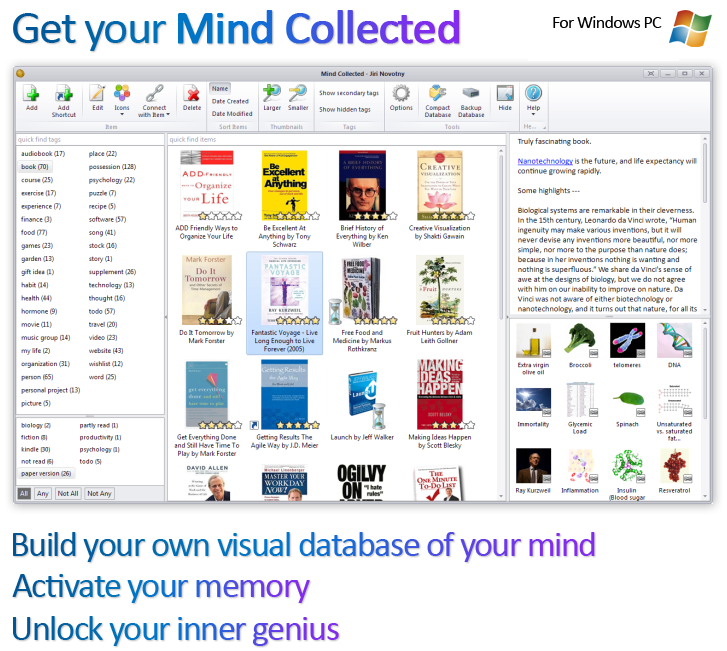 Mind Collected - Build your own visual database of your mind